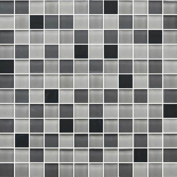 American Olean Color Appeal Glass Blends - C135 Midnight Sky Blend - 1X1 Glass Tile Mosaic - Glossy - Sample