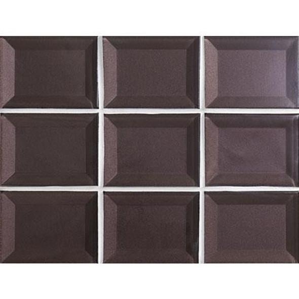 Marazzi - Luminescence LM14 Violet - 3 X 4 Beveled Glass Mosaic