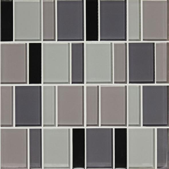 "American Olean Color Appeal Renewal Entourage - 3"" Block - C135 Midnight Sky Blend - Glass Mosaic Tile - Sample"