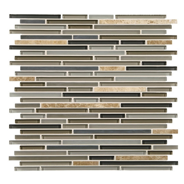 Supplier: American Olean, Series: Generations Glass, Name: GN05 Era, Type: Glass & Stone Tile Mosaic, Size: 3/8 X Random