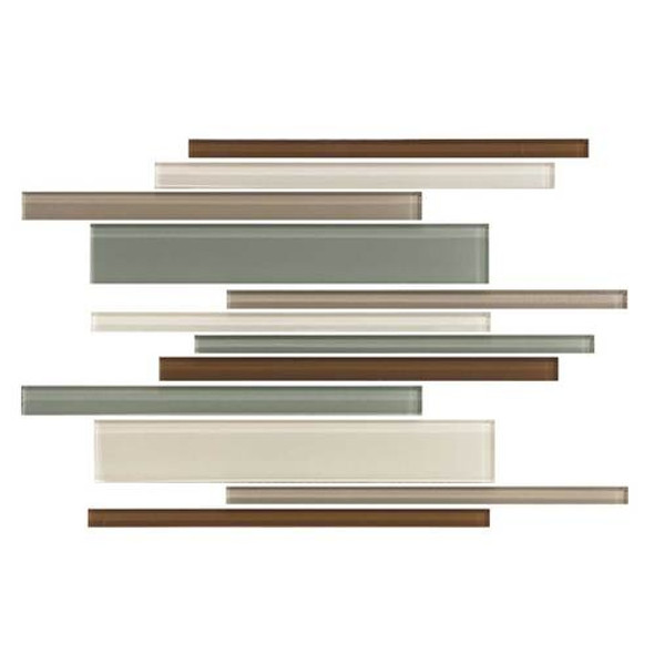 Daltile Color Wave Glass - CW24 Sweet Escape Blend - Random Linear Dal Tile Glass Tile - Glossy - Sample