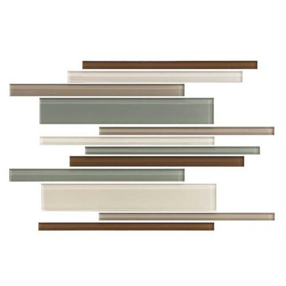 Daltile Color Wave Glass - CW24 Sweet Escape Blend - Random Linear Dal Tile Glass Tile - Glossy - Sample