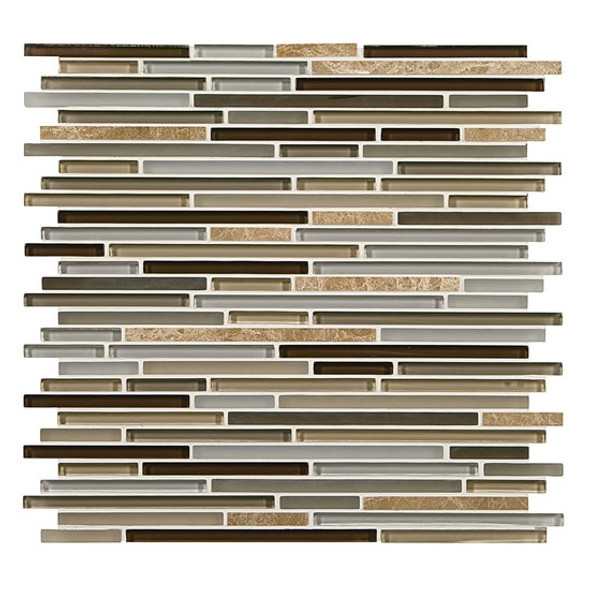 Supplier: American Olean, Series: Generations Glass, Name: GN06 Genesis, Type: Glass & Stone Tile Mosaic, Size: 3/8 X Random
