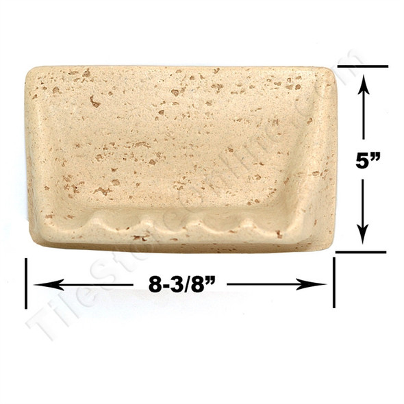 Shaw CS535 - Soap Dish - Resin Faux Stone - Neutral Travertine Color - Bath Accessory - $9.99