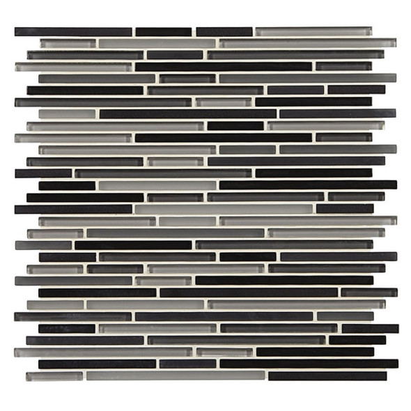 Supplier: American Olean, Series: Generations Glass, Name: GN08 Facets, Type: Glass & Stone Tile Mosaic, Size: 3/8 X Random