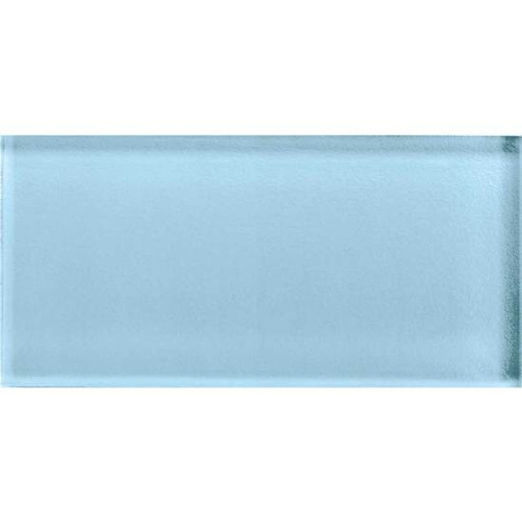 American Olean Color Appeal Glass - C109 Powder - 3X6 Brick Subway Glass Tile - Glossy - Sample