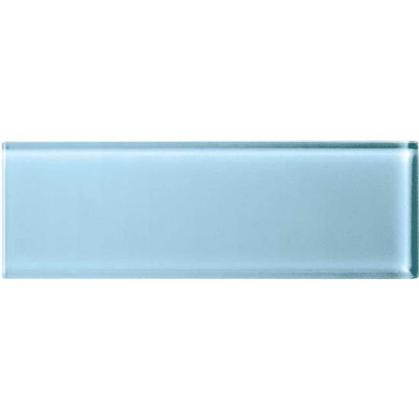 American Olean Color Appeal Glass - C109 Powder - 4X12 Subway Glass Tile Plank - Glossy - Sample