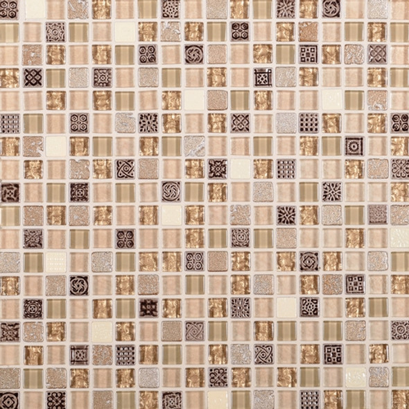Supplier: Daltile Fanfare, Series: Marvel, Name: MV29, Color: Gemstone, Size: 5/8 X 5/8