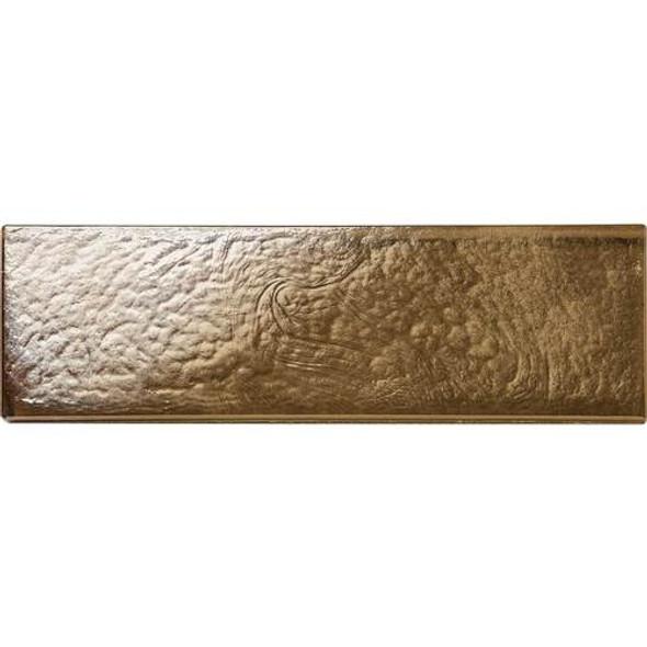Daltile Oceanside Glass Horizons - GH06 Driftwood - 2 X 8 Brick Subway - Textured Iridescent * SAMPLE *