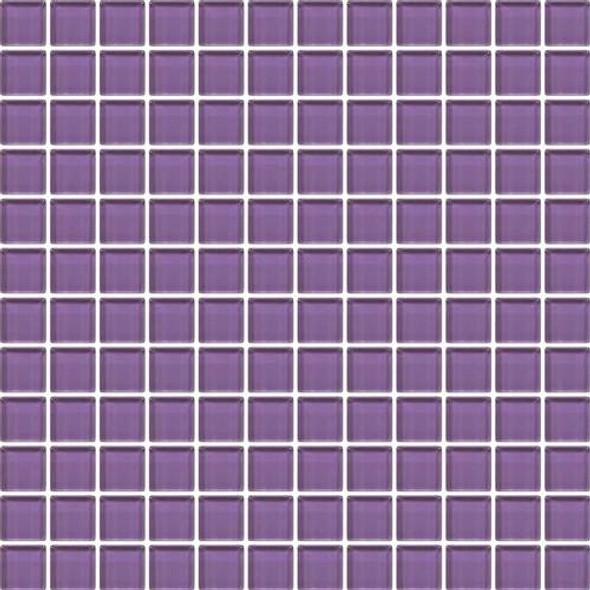 Daltile Color Wave Vibrant Glass - CW31 Purple Magic - 1 X 1 Dal Tile Glass Tile - Glossy - Sample