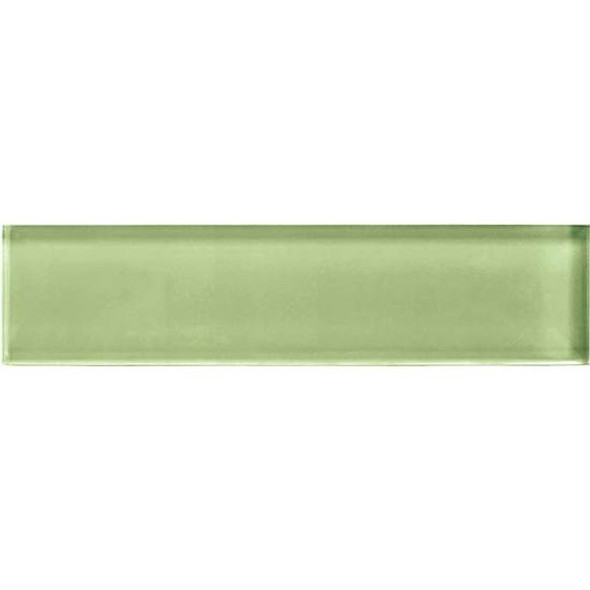 American Olean Color Appeal Glass - C111 Grasshopper - 2X8 Brick Subway Glass Tile - Glossy - Sample