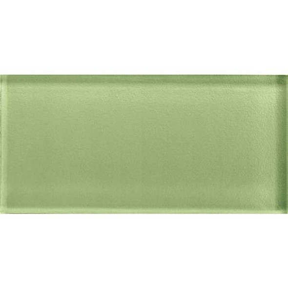 American Olean Color Appeal Glass - C111 Grasshopper - 3X6 Brick Subway Glass Tile - Glossy - Sample