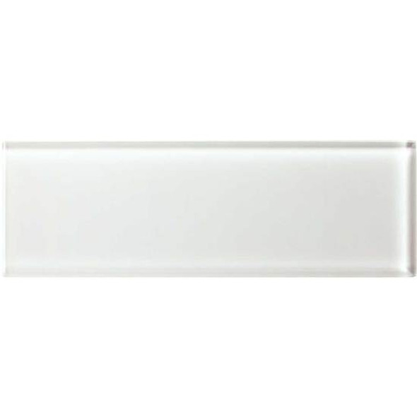 American Olean Color Appeal Glass - C101 Pearl - 4X12 Subway Glass Tile Plank - Glossy - Sample
