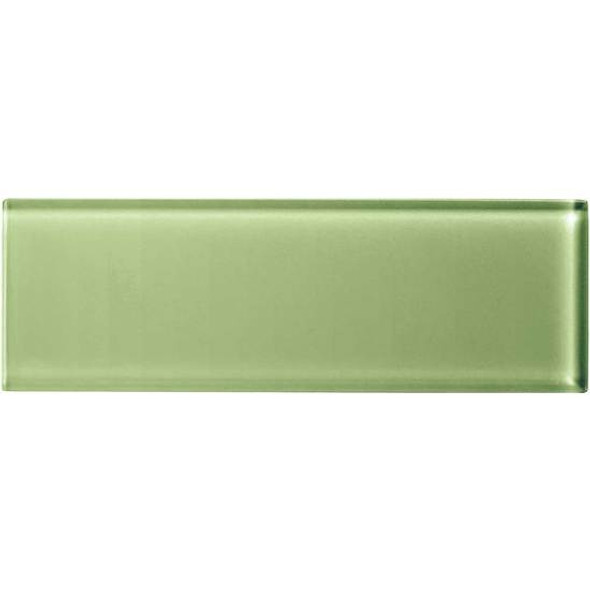 American Olean Color Appeal Glass - C111 Grasshopper - 4X12 Subway Glass Tile Plank - Glossy - Sample