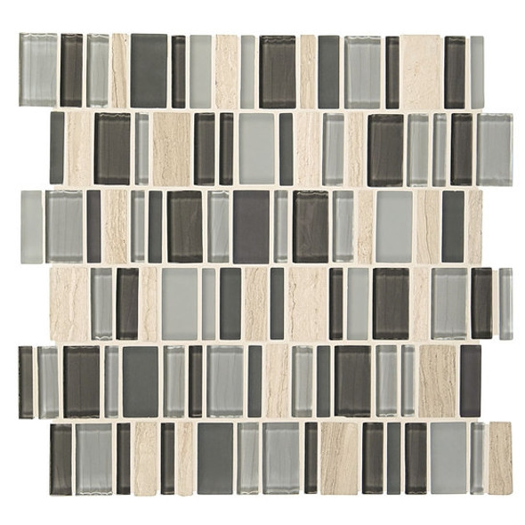 "Supplier: American Olean, Series: Entourage Jubilance, Name: JB05 Elation Blend, Type: Glass & Stone MosaicTile, Size: 2"" X Random"
