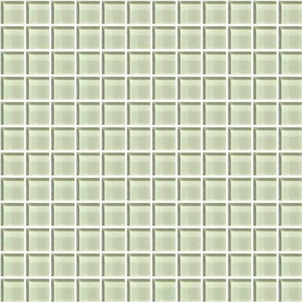 American Olean Color Appeal Glass - C112 Celedon - 1X1 Glass Tile Mosaic - Glossy - Sample