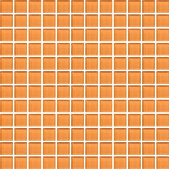 American Olean Color Appeal Vibrant Glass - C126 Orange Peel - 1X1 Glass Tile Mosaic - Glossy - Sample