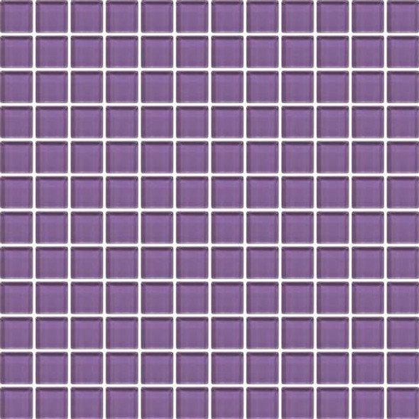 American Olean Color Appeal Vibrant Glass - C127 Plum - 1X1 Glass Tile Mosaic - Glossy - Sample