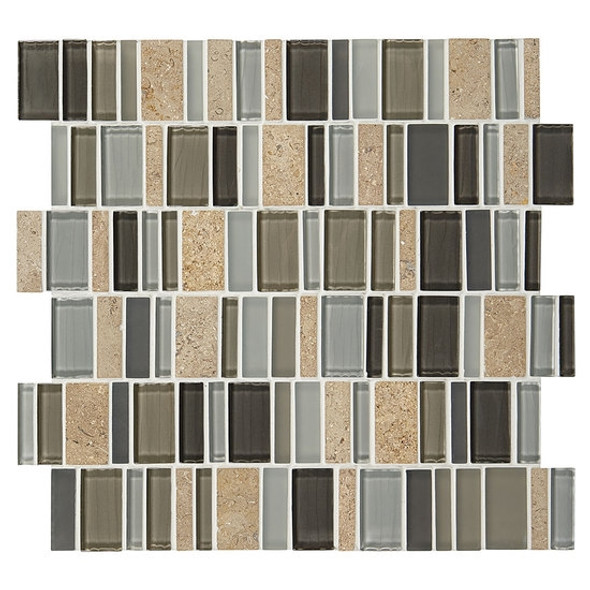 "Supplier: American Olean, Series: Entourage Jubilance, Name: JB06 Triumph Blend, Type: Glass & Stone MosaicTile, Size: 2"" X Random"