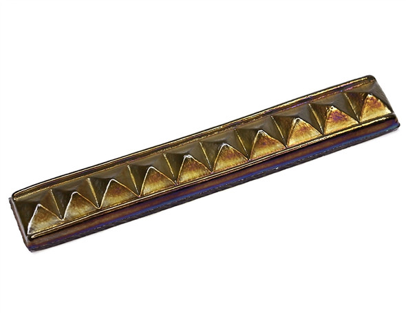 American Olean Candalara Glass - CL52 English Ivy - 1 X 8 Pyramid Liner Listello - Oceanside Glass Iridescent