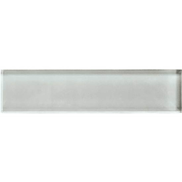 American Olean Color Appeal Glass - C102 Silver Cloud - 2X8 Brick Subway Glass Tile - Glossy - Sample