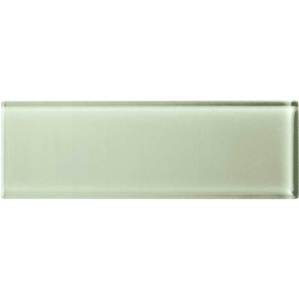 American Olean Color Appeal Glass - C112 Celedon - 4X12 Subway Glass Tile Plank - Glossy - Sample