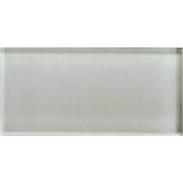 American Olean Color Appeal Glass - C102 Silver Cloud - 3X6 Brick Subway Glass Tile - Glossy - Sample