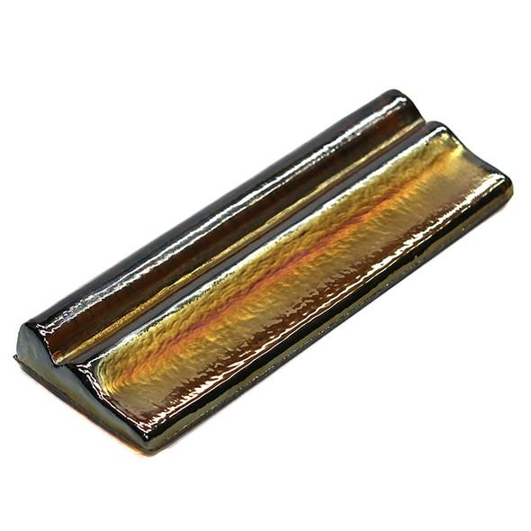 American Olean Candalara Glass - CL53 Cinnamon Spice - 3 X 8 Chair Rail Liner - Oceanside Glass Iridescent
