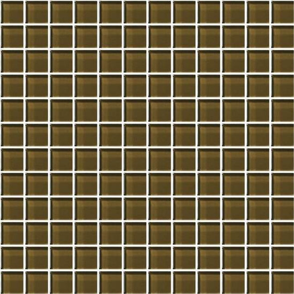 American Olean Color Appeal Glass - C113 Sable - 1X1 Glass Tile Mosaic - Glossy - Sample