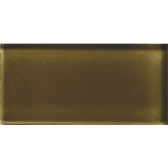American Olean Color Appeal Glass - C113 Sable - 3X6 Brick Subway Glass Tile - Glossy - Sample