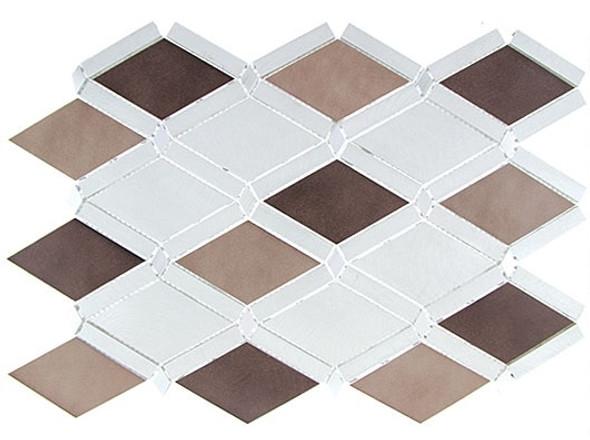 Supplier: Tile Store Online, Name: Falling Star, Color: Ash Sable, Type: Aluminum Metal Mosaic Tile, Size: Diamond