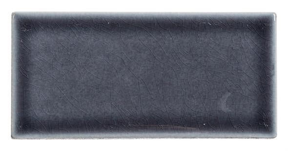 Lumiere - LMR-8521 Orion Noir - 3X6 Subway Brick Crackle Glaze Porcelain - Bullnose Trim Tile