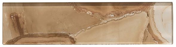 Magical Forest - MGF-732 Cinnamon House - 3X12 Subway Brick Decorative Glass Tile - Sample