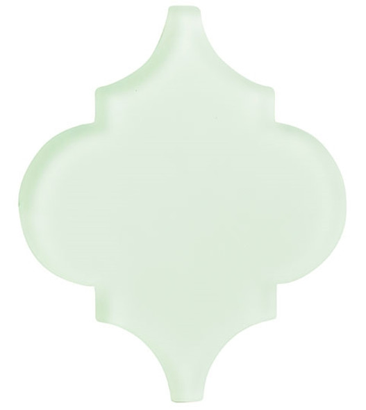Glazzio Arabesque Glass Tile - Versailles VS-416FROSTED Reflective Pool - Moroccan Style Glass - Matte Frost Finish