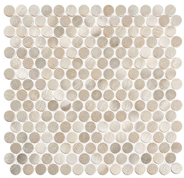 Urban Jungle - UJ663 Thunderburst - Penny Round Aluminum Metal Cap Mosaic