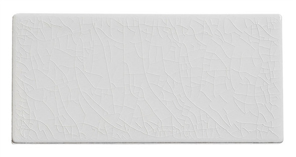 Lumiere - LMR-8523 Angel Feather - 3X6 Subway Brick Crackle Glaze Porcelain - Bullnose Trim Tile