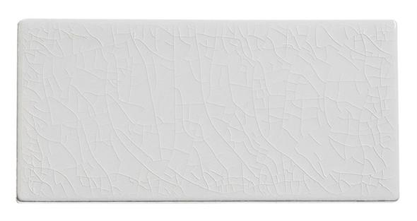 Lumiere - LMR-8523 Angel Feather - 3X6 Subway Brick Crackle Glaze Porcelain - Bullnose Trim Tile