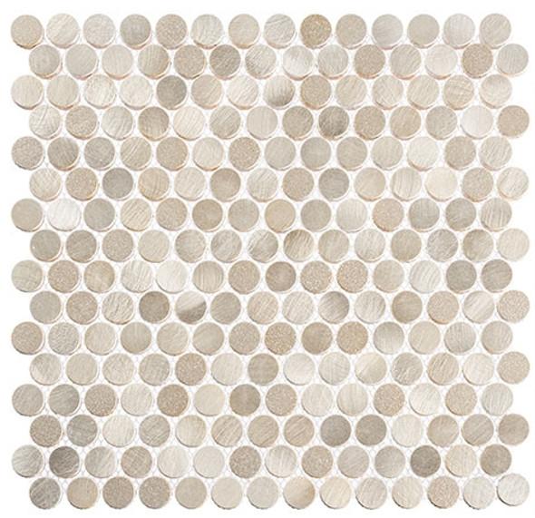 Urban Jungle - UJ663 Thunderburst - Penny Round Aluminum Metal Cap Mosaic - Sample