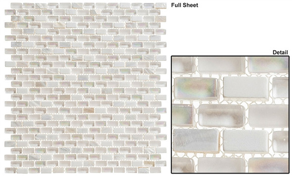 Americana - AMER-397 Greyhound - 3/4 X 3/8 Mini Brick Subway Glass & Stone Mosaic Tile - Sample