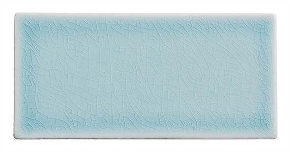Lumiere - LMR-8524 Marseille Aqua - 3X6 Subway Brick Crackle Glaze Porcelain - Bullnose Trim Tile
