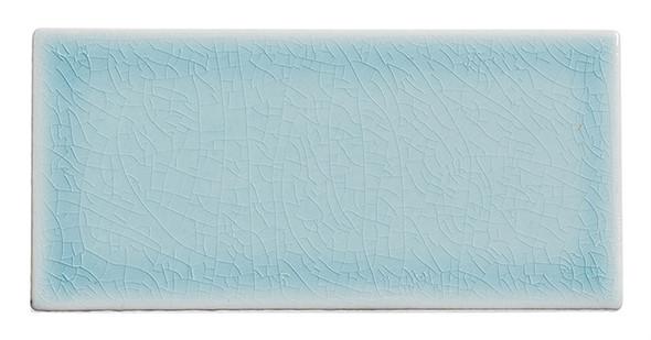 Lumiere - LMR-8524 Marseille Aqua - 3X6 Subway Brick Crackle Glaze Porcelain - Bullnose Trim Tile