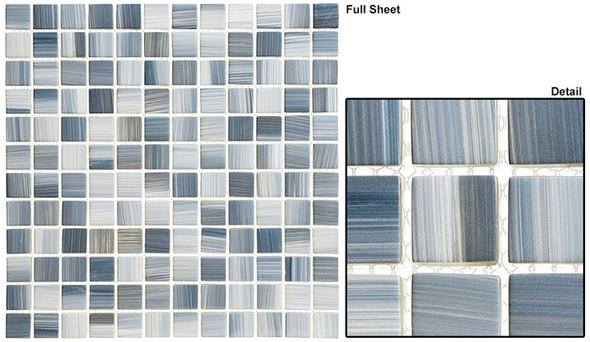 Highclere Manor - HM-431 Hampshire Dusk - 1X1 Glass Tile Mosaic