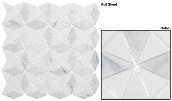 Divine Windows - DVW-342 Gaelic Kirk - Geometric Pattern Natural Stone Mosaic Tile - Sample