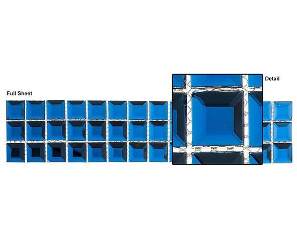 Kasbah - KS549 Twilight Treasure - 2.5 X 12 Beveled Mirror Glass Tile Mosaic Border Liner Strip