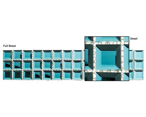 Kasbah - KS550 Peacock - 2.5 X 12 Beveled Mirror Glass Tile Mosaic Border Liner Strip