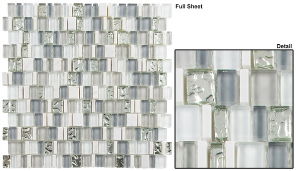 Enchanted Flavors - EF-612 Coconut House - Random Offset Multi Size Glass & Natural Stone Mosaic Tile