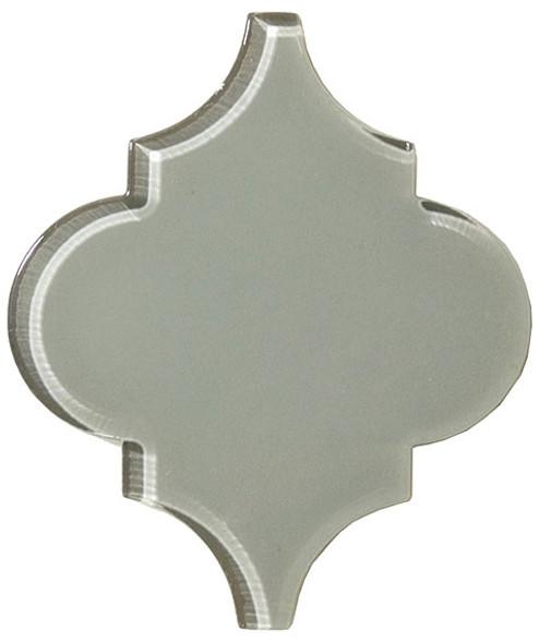 Arabesque Glass Tile - Versailles VS-419 Fountain Grey - Moroccan Style Glass - Gloss - Sample