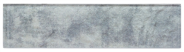 Velvet Glaze - VGL-523 Powder Blue - 3X12 Subway Brick Undulated Glass Tile - Sample