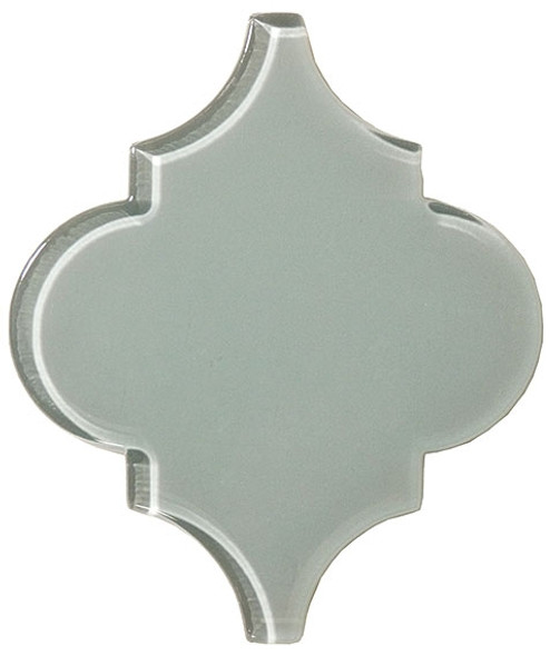 Arabesque Glass Tile - Versailles VS-411 French Blue - Moroccan Style Glass - Gloss - Sample