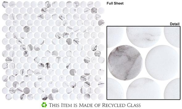 Carolina Dots - CAR2012 Fashion Spec - Penny Round Recycled Glass Mosaic - Sample